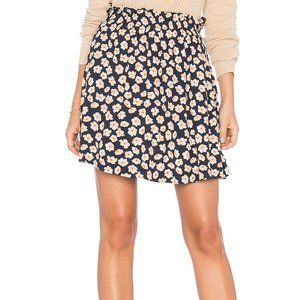 NWT Ganni Montrose Crepe Mini Skirt Total Eclipse